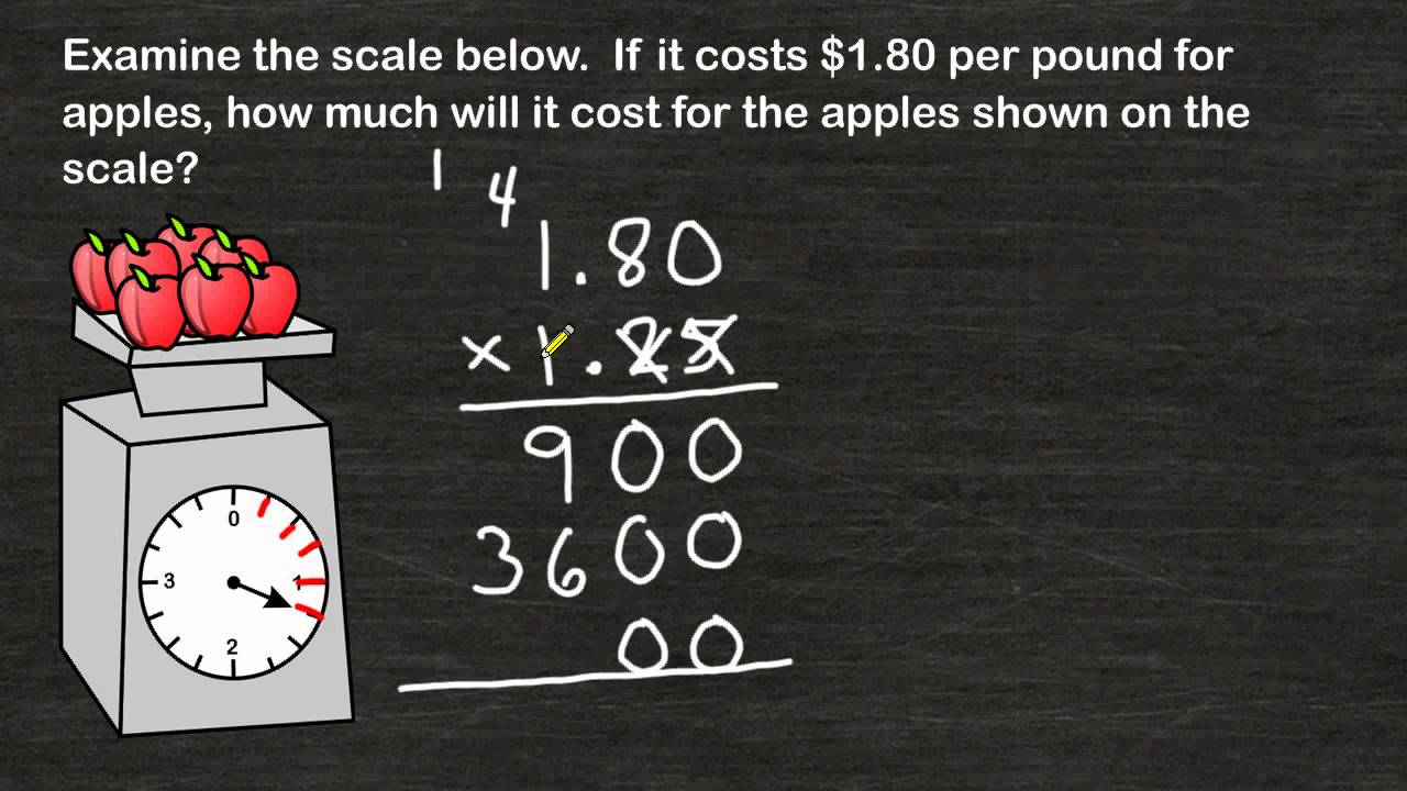 hight resolution of Word Problems - Multiplying Decimals - YouTube