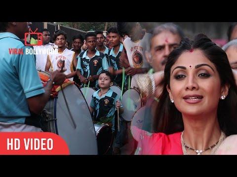 Best Nasik Dhol Celebration At Ganpati Visarjan With Shilpa Shetty And Family