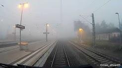 Von Germersheim Bf über Speyer Hbf nach Mannheim Hbf (Nebelfahrt)