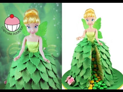 How To Make Tinkerbell Doll Cake