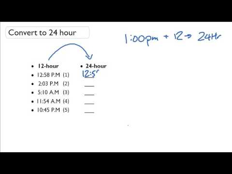 convert time from hour clock to hour clock  convert time from 12 hour clock to 24 hour clock