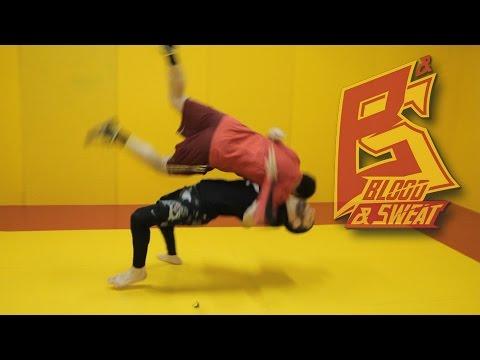 Бросок прогиб в MMA через удар коленом. Чемпион ACB Абдул-Азиз Абдулвахабов