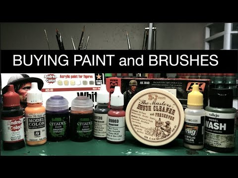 Buying Paint and Brushes