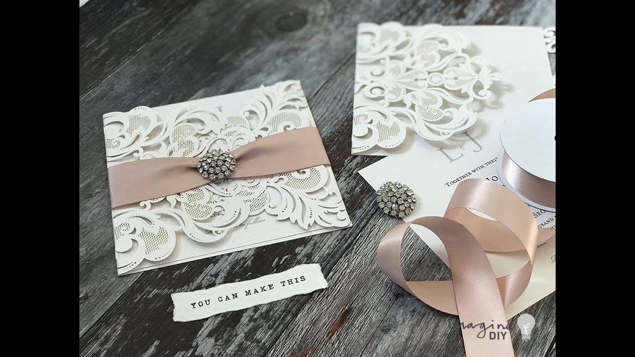 Diy Wedding Invitations How To Make Easy Laser Cut At Home