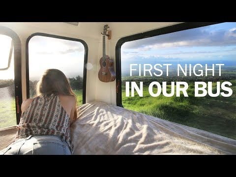 First Night in Our Bus House | #BusLife in Hawaii