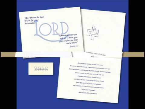 Christian Graduation Announcements YouTube – Religious Graduation Invitations
