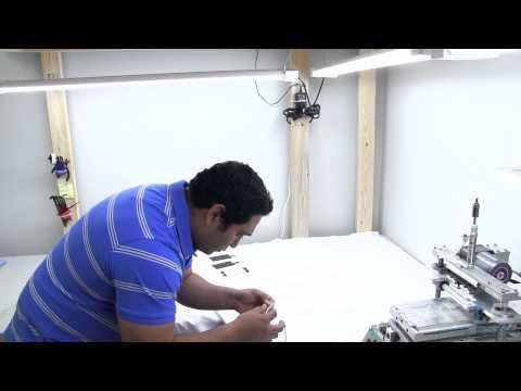 Applying OCA by hand with a roller - Screen Refurbishing