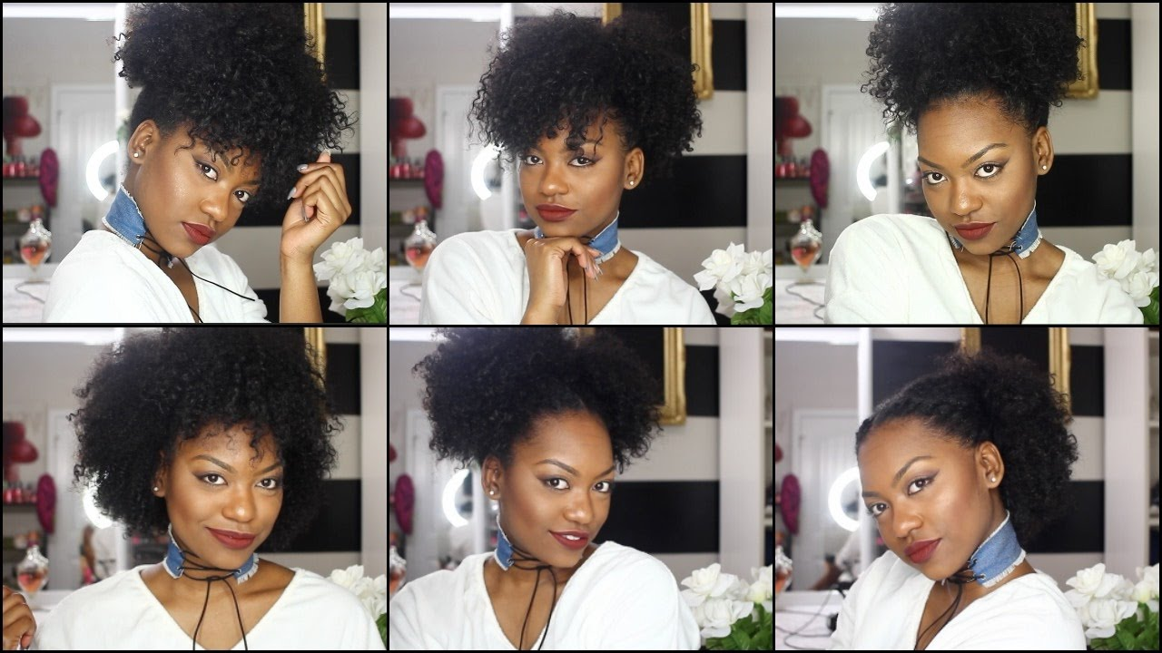 6 hairstyles on old wash n go hair | quick & easy