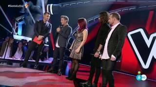 """Alejandro Sanz y su equipo: """"Cuando Nadie Me Ve"""" – Segundo Directo - La Voz 2016"""
