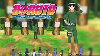 Boruto lanza un fuma shuriken
