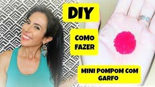 Como fazer mini pompom com garfo