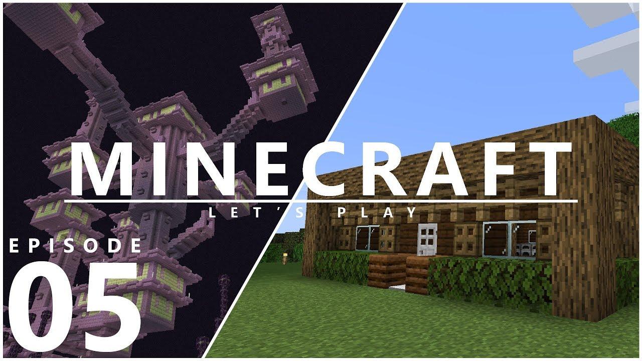 Let's Play Minecraft 1 14 - Storage Room & Elytra