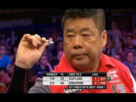 Singapore defeats Scotland in a Major Upset - 2017 PDC World Cup