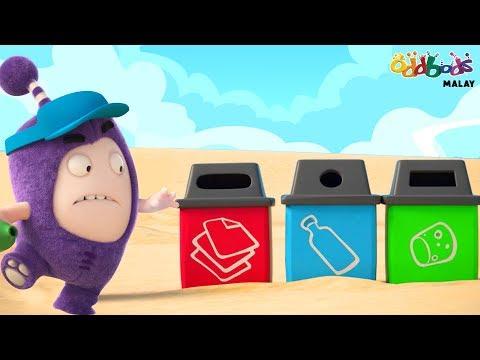 Oddbods | Bersih dan Hijau Kempen | Kartun Lucu untuk Kanak-Kanak
