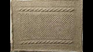 Очень простой узор для новичков.Видео-урок для начинающих Knitting pattern
