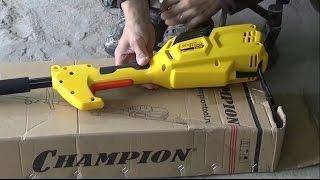 Видео Обзор электро тримера Champion ET 1200A. Комплектация, сборка и запуск эл. косы. (автор: Андрей Гагунов)