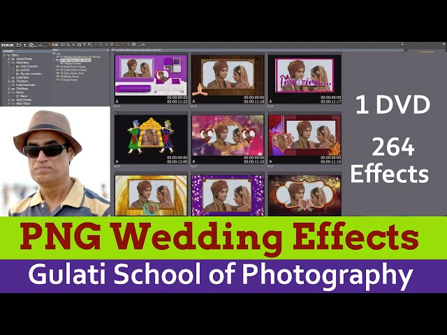 12 PNG Wedding Effects | Edius Effects  | Drag & Drop Effects | Edius 7,8,9 Effects (264 Effects)