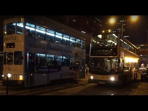 Hong Kong, bus ride @ night to Beech Street, New Kowloon Plaza