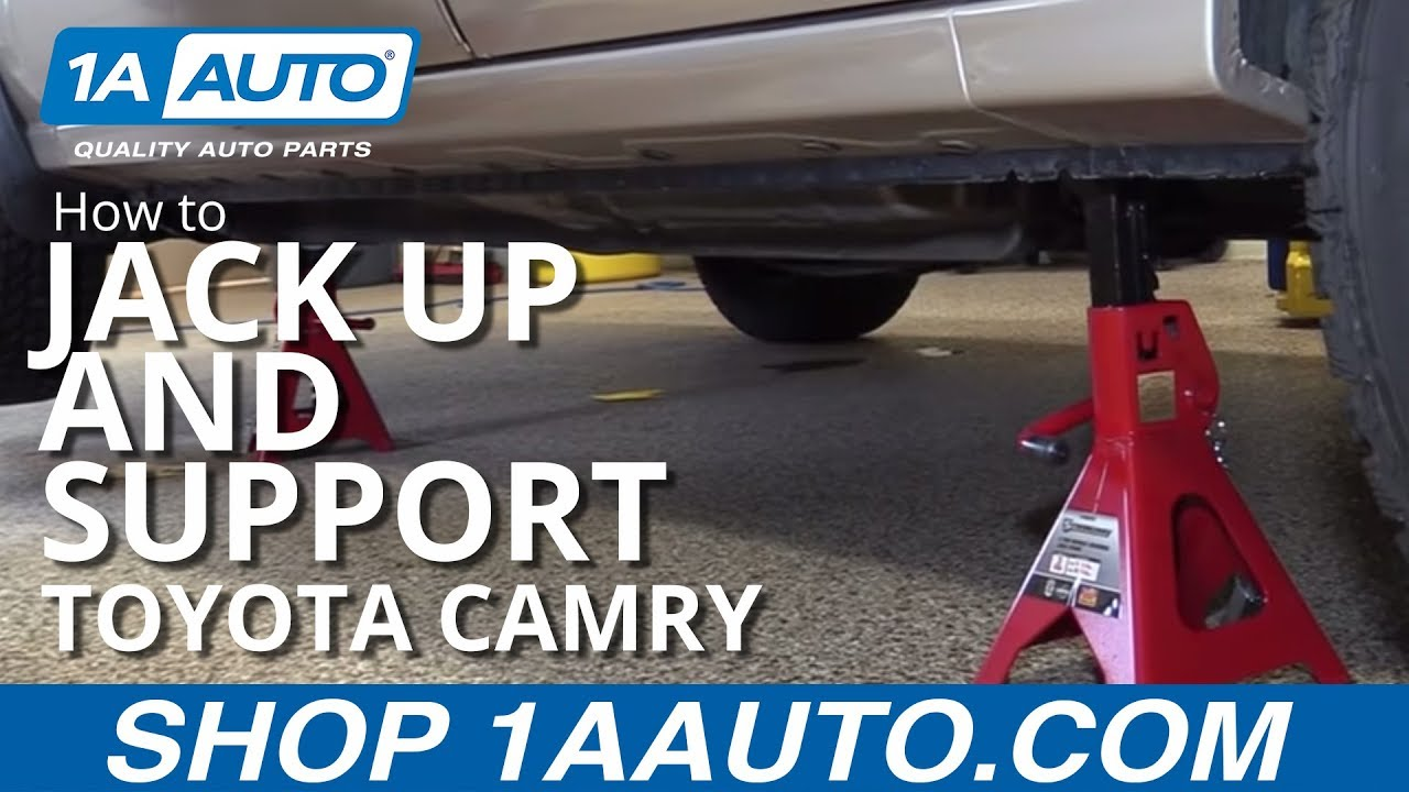 how to jack up and support 98 03 toyota camry [ 1280 x 720 Pixel ]