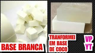Transformei Base Glicerinada Neutra em Base de Coco Para Sabonetes