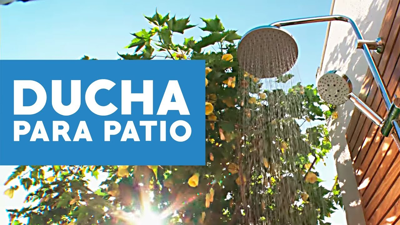 C mo hacer una ducha para el patio youtube for Piscina villares de la reina