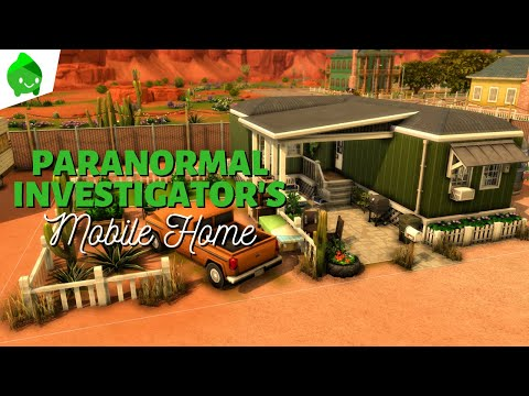 Paranormal Investigator's Mobile Home | The Sims 4 Paranormal Stuff: Speed Build |