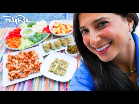 SUPER BOWL PARTY SNACKS! Healthy & Fun, Raw Vegan, Game Day Recipe Ideas!