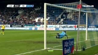 FC Luzern vs Young Boys Bern 1-2 / Raiffeisen Super League / 02.09.2012