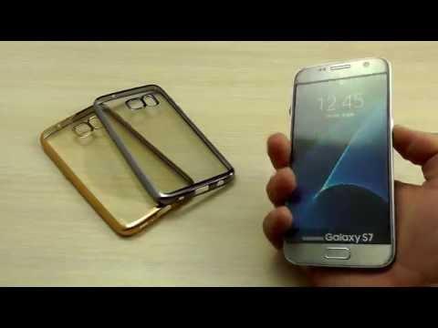 ОБЗОР: Ультратонкий Силиконовый Чехол-Накладка для Samsung Galaxy S7 SM-G930F  серия Glitter