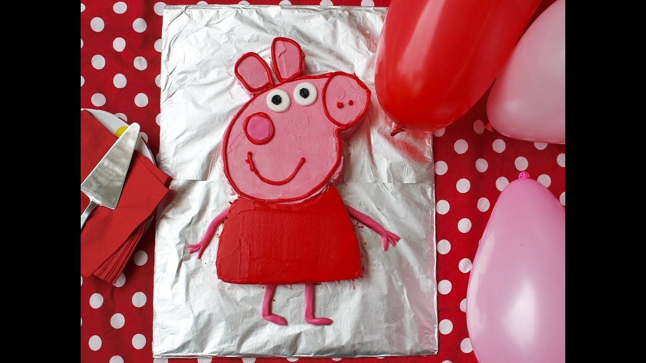Birthday Cake Recipe How To Make A Peppa Pig