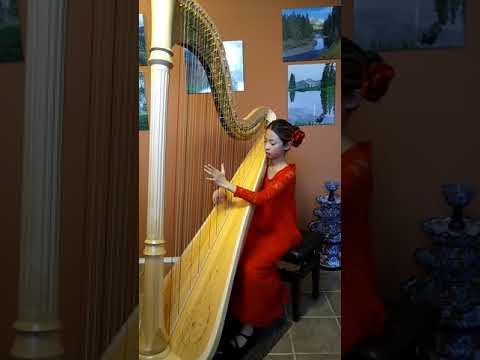 Young Harpist Erin Choi playing Baroque Flamenco by Deborah Henson-Conant