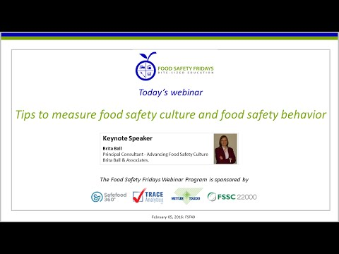 Tips to measure food safety culture and food safety behavior