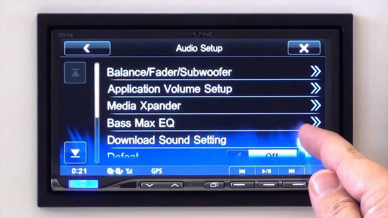 Alpine ICS-X8 Internet Sound Setting Service on