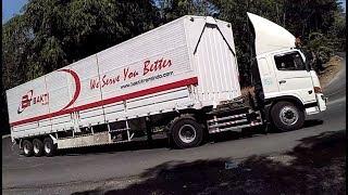 TRUK BESAR Terpanjang !! Truck Trailer Truk Kontainer Truk Box ISUZU Giga FUSO HINO Tikungan Timez