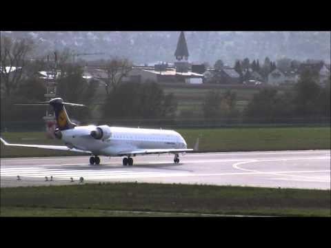 Stuttgart Airport - Taxi & Takeoff Lufthansa Cityline Bombardier Canadair CRJ 900
