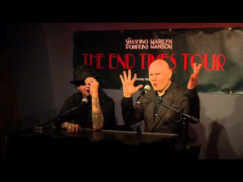 Billy Corgan and Marilyn Manson at Virgin Hotels Chicago