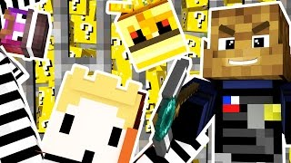 LUCKY BLOCKS COPS AND ROBBERS HIDE AND SEEK MOD - Minecraft Modded Minigame | JeromeASF