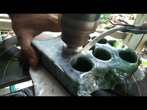 Natural Nephrite Jade ( Aceh ) On Proses(2)