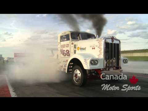 Smokin' Gun Diesel Drag Race Truck, huge burnout! June 2009 Calgary