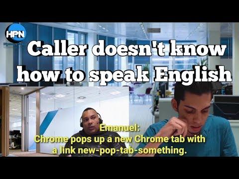 Tech Support Call / NON-NATIVE SPEAKER needs tech support / Call Center Conversation