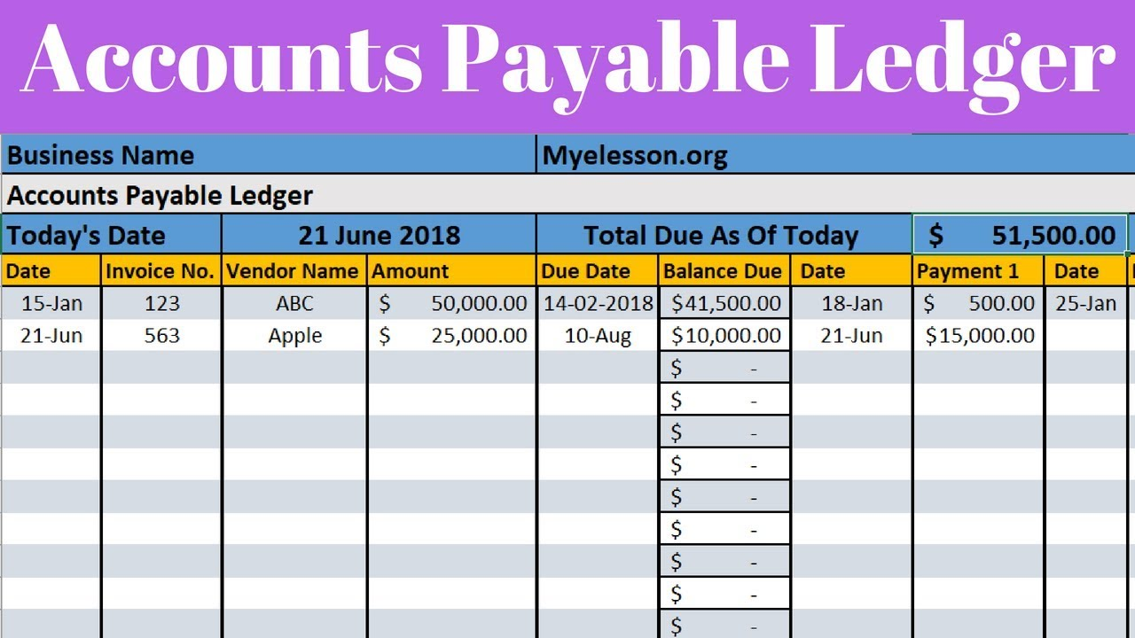 Make Accounts Payable Report In Excel Youtube