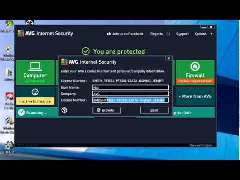 avg antivirus serial key till 2020
