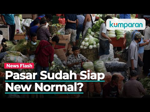 New Normal Pasar: Pemasangan Sekat Plastik Hingga Konsisten Lakukan Tes