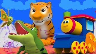 bob il treno | animale abc canzone | imparare alfabeti con gli animali | Bob Train Animals ABC Song