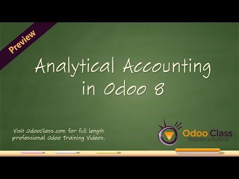 Analytical Accounting in Odoo - How to setup analytic accounting