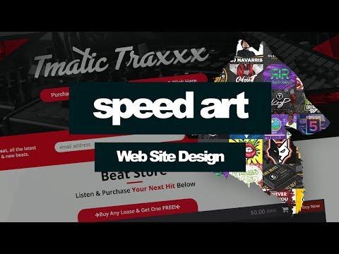 Creating Tmatic Traxxx Beat Selling Website - Speed Art