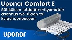 Comfort E -sähköisen lattialämmitysmaton asennus wc-tilaan tai kylpyhuoneeseen