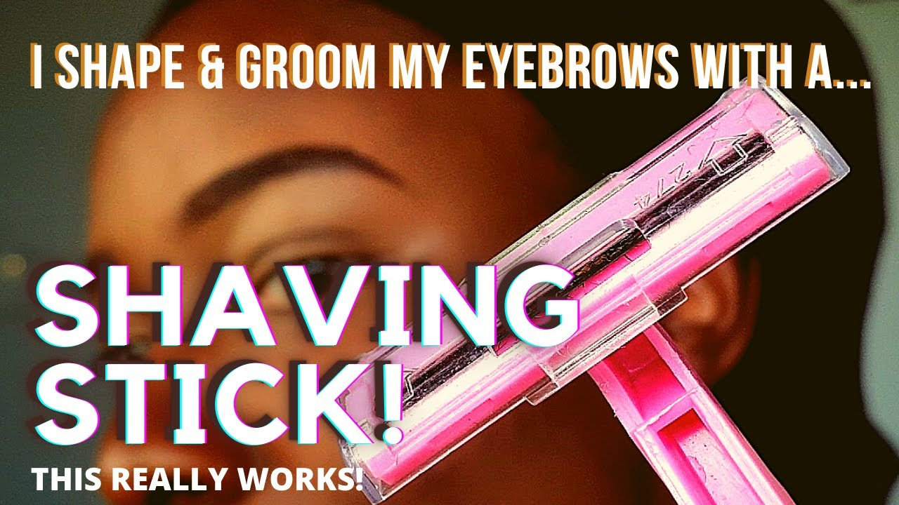 Download I use a SHAVING STICK to shape my eyebrows 🙊🙈 THIS HAS CHANGED MY LIFE! | ft. Ammunition