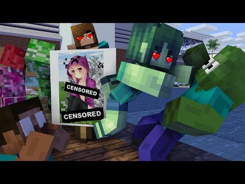 Monster School : Pick Up The Girl Challenge - Minecraft Animation