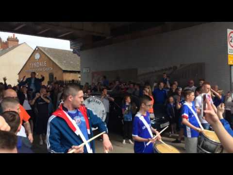Linfield fc fans penny arcade cup final 2017